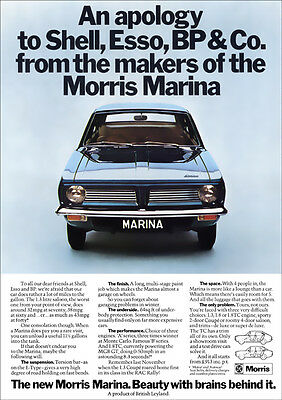 Morris Marina Retro A3 Poster Print From Classic 70's Advert