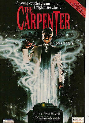 A4 Advert for the Video Release of The Carpenter Wings Hauser