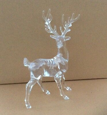 New Pair 18cm Acrylic Reindeers Christmas Decorations / Figures OFFER!
