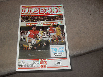 Arsenal v Manchester United 15/2/83 FL Cup Semi Final