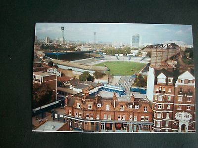 """CHELSEA GROUND  STAMFORD BRIDGE from Fulham Road coloured  1980s  6""""x4""""  REPRINT"""