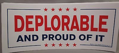 WHOLESALE LOT OF 10 DEPLORABLE AND PROUD OF IT TRUMP BUMPER STICKERS President $