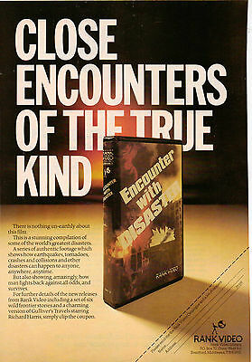 A4 Advert for the Video Release of Encounter With Disaster