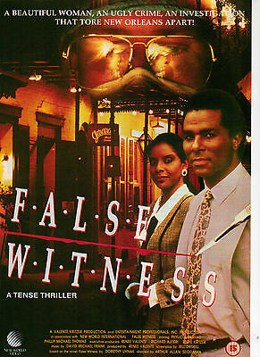 A4 Advert for the Video Release of False Witness Phillip Michael Thomsa