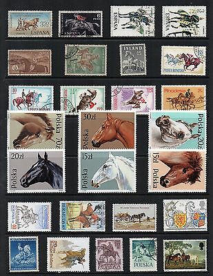 HORSES ANIMALS Thematic STAMP COLLECTION Mint Used REF:TS83