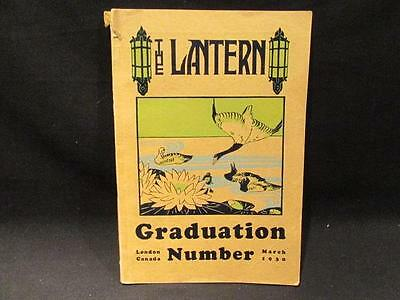 Sir Adam Beck Collegiate Institute March 1930 Lantern Yearbook Graduation Number