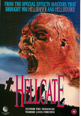 A4 Advert for the Video Release of Hellgate Ron Palillo Abigail Wolcott