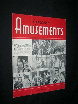GREATER AMUSEMENTS Crossed Swords GINA LOLLOBRGIDA ERROL FLYNN Drive In News