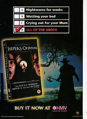 A4 Advert for the Video Release of Jeepers Creepaers