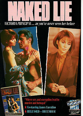 A4 Advert for the Video Release of Naked Lie Victoria Principal James Farentino