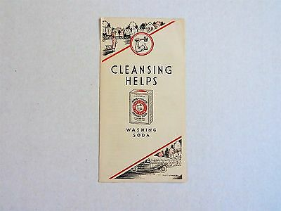 1933 Arm & Hammer Cleansing Helps Washing Soda Pamphlet