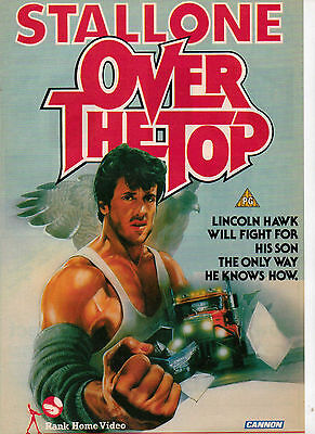 A4 Advert for the Video Release of Over the Top Sylvester Stallone