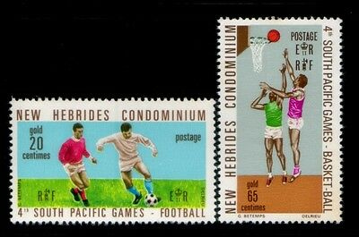 BRITISH NEW HEBRIDES Fourth South Pacific Games MNH set