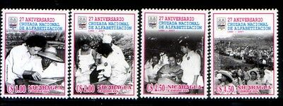 NICARAGUA 27th Anniversary of Literacy Campaign MNH set