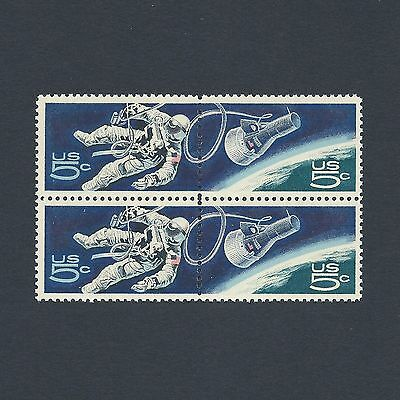 Gemini 4: First American Space Walk Vintage Mint Set of 4 Stamps 49 Years Old!