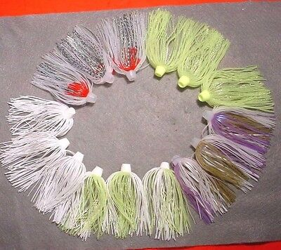 """15 Bio-Flex """"skirts Plus"""" Hole N One Silicone Spinnerbait Skirt Assorted Colors"""