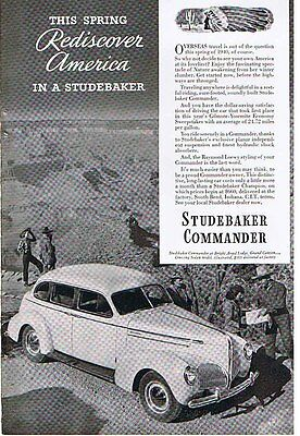 """Rediscover America in a STUDEBAKER"" 1940 Ad"