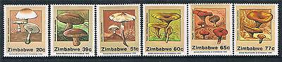 Zimbabwe 1992 Edible Mushrooms SG 826/31 MNH