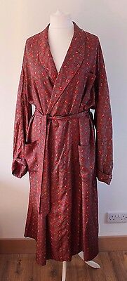 """Vintage 1950s Celanese silky acetate dressing gown Smoking Jacket 48""""Chest Large"""
