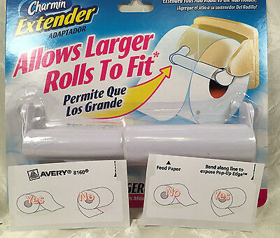 Charmin Toilet Paper Extender White + FREE TP Over or Under Label