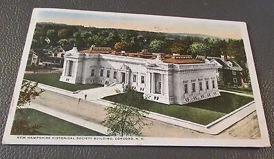 Old Postcard  CONCORD, NEW HAMPSHIRE   { NH HISTORICAL BLDG.--1914}