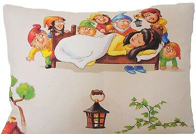 Snow White and The Seven Dwarfs Cushion Cover Printed Throw Pillow Case