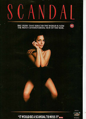 A4 Advert for the Video Release of Scandal John Hurt Joanne Whalley