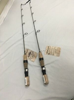 "2 Shakespeare Wild Series Ice Spin Rods 26"" Medium Light Perch Crappie Panfish"
