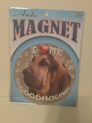 CUTE 'I Love My Bloodhound' Car Magnet - BRAND NEW IN PACKAGING!!
