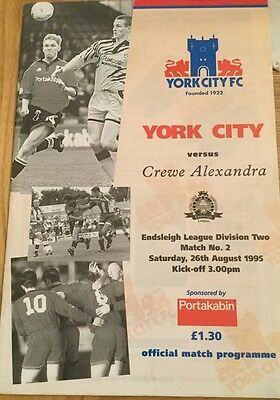 York City v Crewe Alexandra 1995-96