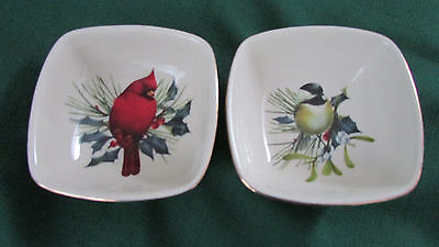 "Lenox ... .new ... Two (2) ... ""winter Greetings"" ... Dipping Bowls"