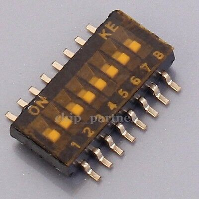 8Pin SMD Toggle Slide Switch Code Switch 1.27mm Pin Space For Industrial Control
