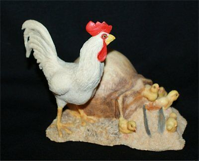Lowell Davis  Farm Figurine-Chickens BABY CHICKS ROOSTER APPROX 4 INCH