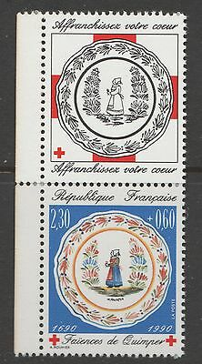 Timbre  Neuf Croix Rouge 1990  N° 2646**