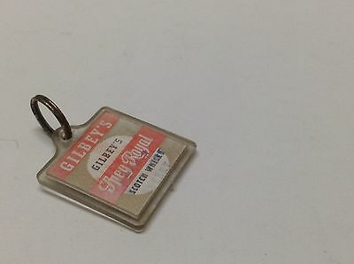 Vintage Lenticular Key Ring Gilbey's Dry Gin