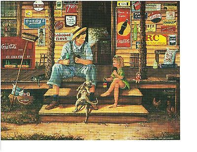 Country Store Rc Cola Moon Pie Man Overalls Little Girl Ads