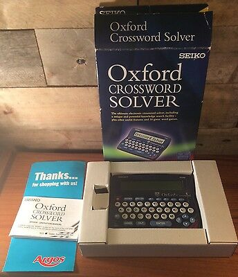 Seiko Oxford Crossword Solver With Games ER3500 Desktop Model Boxed Instructions