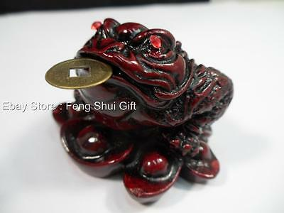 Lucky Feng Shui Chinese Oriental Money Wealth Fortune 3 Leg Coin Frog Toad Small