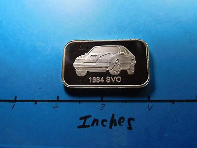 Ford Mustang 1984 Svo Remanufactured Part Series 999 Silver Bar Very Rare Cool