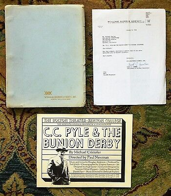 1984 Original PLAYSCRIPT by MICHAEL CRISTOFER - DIRECTED by PAUL NEWMAN + Extras