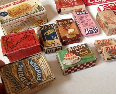 17 Boxes 1930/50s Toy Shop Cardboard Food Packaging Boxes Bisto Ryvita Lux Birds