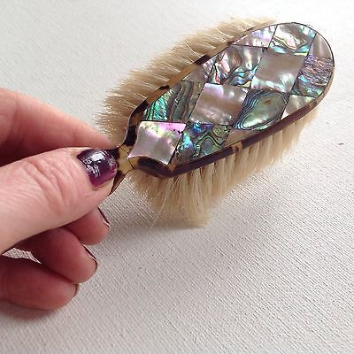 Antique Mother Of Pearl Hair Brush gorgeous Mother Of Pearl Diamond Pattern