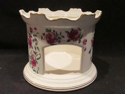 "Castle Turret Shaped 4"" Candle Holder Pink Rose Design Consumers Distributing"