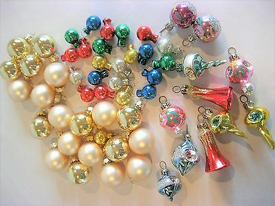 Vintage Mini Glass Indent Ball Christmas Ornaments