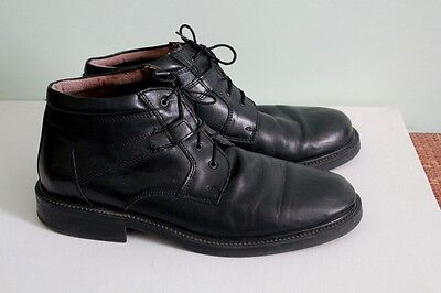 Bill Blass Italy Comfort system Black Leather ankle boots shoes  size 11D