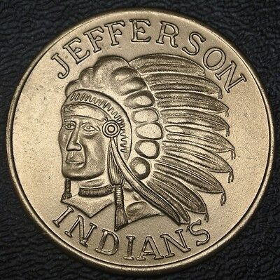 New Orleans MARDI GRAS - KREWE - JEFFERSON INDIANS Doubloon 1958-1981