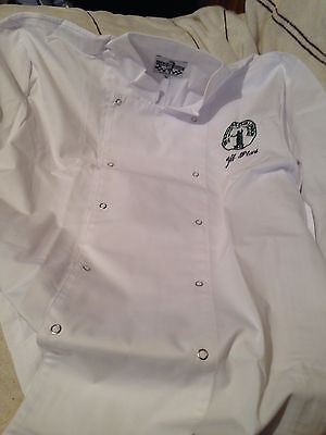 2 New White Chefs Jackets, Size XL.