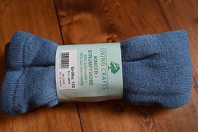 Thick Warm Girls Tights 50% Wool 50% Organic Cotton 9-11y  Eu size 152