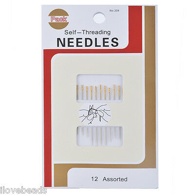 12PCs Self-Threading Big Eye Thick Sewing Needles Embroidery Hand Sewing