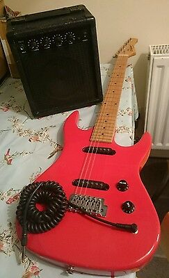 electric guitar and amp, beginners guitar kit, ready to use, loftfind / barnfind